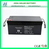 12V 200ah nachladbares SolarStromnetz-Leitungskabel-saure Solarbatterie (QW-BV200A)