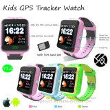 전화 APP (Y12)를 가진 아이 GPS 추적자 시계