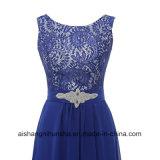 Шифоновый a - линия платье Bridesmaid отбортовывая платье свадебного банкета