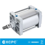 Cylindre pneumatique de contrat de la série Cq2