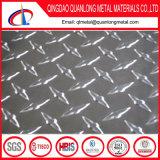3003 5 Barres 4X8 Plaque antidérapante en aluminium à carreaux diamantés