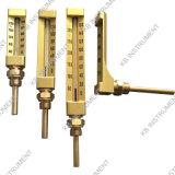 V ligne type droit de thermomètre en verre industriel