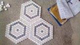 modelo de mosaico del mármol del hexágono de 25m m