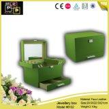 Contenitore di monili creativo di disegno di colore verde 2015 (8102)
