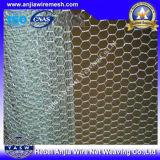 O CE, GV, RoHS marca o engranzamento de fio sextavado revestido PVC galvanizado de alta elasticidade (Anjia-106)