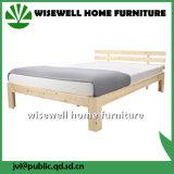 低いフット・エンド(WJZ-B85)が付いている固体マツ木ダブル・ベッド