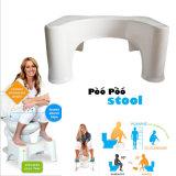 Taburete insignificante regordete plástico de la posición en cuclillas del tocador del taburete del pie del cuarto de baño