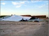 Hoja blanca/negra de la cubierta del ensilaje de la arcón, del silo