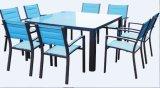Im Freienpatio-Rattan-Sofa-Weidenschnittsofa-Garten-Möbel-Set
