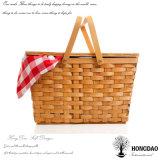 Venta al por mayor de mimbre hecha a mano barata de la cesta de la comida campestre de Hongdao - E
