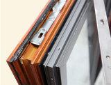Kz141木の多彩な熱壊れ目のマルチロックが付いているアルミニウムプロフィールの倍のサッシュの開き窓のWindows