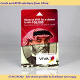 중국에서 RFID 카드 또는 인쇄 카드 또는 스마트 카드