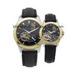 Beste goldene Edelstahl-Paar-Uhr für Geliebt-Geschenk