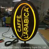 Il negozio acrilico del LED firma la casella chiara del LED