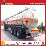 De poids léger de réservoir de transport camion-citerne d'aluminium d'essence de remorque semi