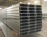 Canal de acero galvanizado ranurado del acero suave C/Z/U