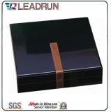 Rectángulo de madera de madera de la pulsera del brazalete del pendiente del anillo del rectángulo de la caja de embalaje del almacenaje del regalo de la joyería (lw010)