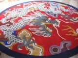 Mat van de Deur van het Tapijt van de Wol van het Patroon van de Bloem van de luxe de Textiel