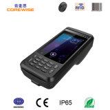 Handheld Andorid промышленное PDA с читателем фингерпринта RFID и блоком развертки Barcode