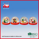 Snow mezzo Ball con Blowing Snow per Christmas Decoration