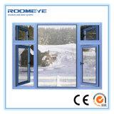 Roomeye Aluminiumrahmen-Flügelfenster nach aussen oder innere Öffnungs-Glasschwingen-Fenster