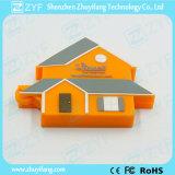 Movimentação do flash do USB da forma 8GB da casa feita sob encomenda com logotipo (ZYF1093)