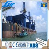 Guindaste marinho hidráulico elétrico da plataforma do navio