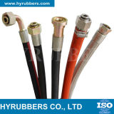 Un tubo flessibile idraulico ad alta pressione a spirale r13 R15 dei sei collegare