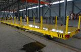 Carretilla motorizada de la transferencia de la planta siderúrgica en los carriles