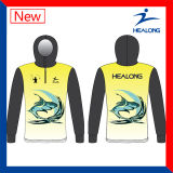 Impressão de transferência térmica 3D Sublimated Hoodies baratos de pesca Camisolas Camisolas