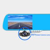 E-Ace Car Navigator Android DVR Mirror Rearview Câmera de 350 graus Bluetooth Handfree WiFi FM 5.0 polegadas Display FHD 1080P Recorder