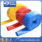 /Bleue/rouge de pompe d'irrigation agricole à haute pression de PVC flexible de l'eau boyau plat étendu par irrigation jaune