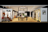 Boutique de vêtements pour dames Décoration d'intérieur, étagère