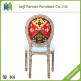 型のDesogmの純木の高い背部食事の椅子(ジル)