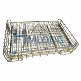 Гальванизированная слабая сталь штабелируя контейнер паллета ячеистой сети