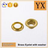楕円形の真鍮アイレットおよびグロメットの高品質の黄銅アイレット