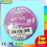 Tag chave Epoxy passivo da impressão Ntag216 RIFD NFC do logotipo do laser