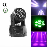 Mini LED indicatore luminoso capo mobile caldo di vendita 7PCS*10W RGBW