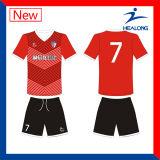 Формы футбола оптовой продажи печатание Healong v сублимированные шеей