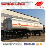 Le propriétaire a conçu la remorque de camion-citerne pour la charge d'huile de graissage