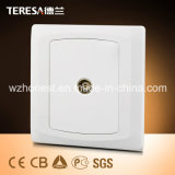 Universal Wall Single Outlet Coaxial Socket