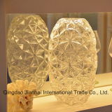 고품질 장식적인 다이아몬드 패턴 유리 그릇