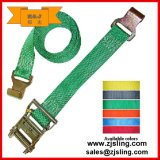 A catraca lisa de Polyster do gancho de En12195-2 75mm amarra para baixo a cinta (personalizada)
