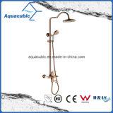 Faucet de bronze do misturador do chuveiro do banheiro da montagem da parede