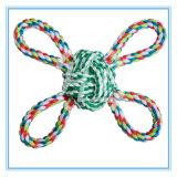 Juguetes de la mordedura de la cuerda del algodón del perro y del gato del producto del animal doméstico varios