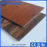 panneau composé en aluminium d'ACP d'Acm de la série 3D en bois pour la décoration intérieure