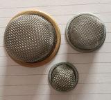 Нержавеющая сталь Multilayers 304 и снабженные ободком латунью сетки фильтра купола края