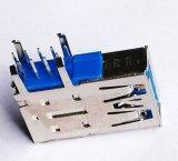 USB3.0 Conector hembra, Serie A, la sola cubierta. Ángel en posición vertical Pasante Tipo, 9 Posiciones