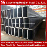 Tubo de acero rectangular de Galvanzied usado como materiales de construcción