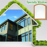 Finestra di legno di alluminio per la villa dal fornitore cinese, finestra di specialità della parte superiore dell'arco di specialità con la griglia chiara divisa estetica